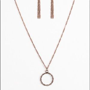 """Simply Simple"" Copper Necklace & Earrings Set"